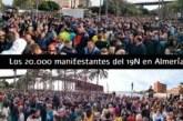 El vídeo de los 20.000 manifestantes del 19N en Almería