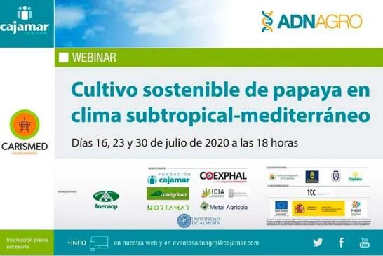 Días16, 23 y 30 de julio. Cultivo sostenible de papaya en clima subtropical-mediterráneo