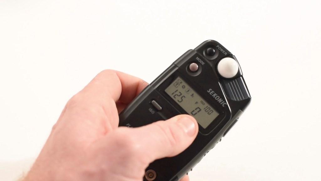 medición de la luz del flash