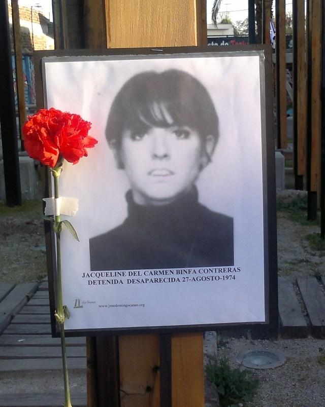 Jacqueline Del Carmen Binfa Contreras Detenida Desaparecida el 27-agosto-1974