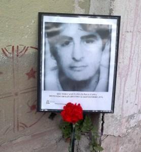 Hector Cayetano Zuñiga Tapia. detenido Desaparecido el 16 de septiembre de 1974.