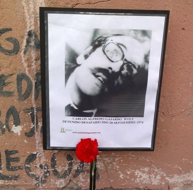 Carlos Alfredo Gajardo Wolf. Detenido Desaparecido el 20 de septiembre de 1974
