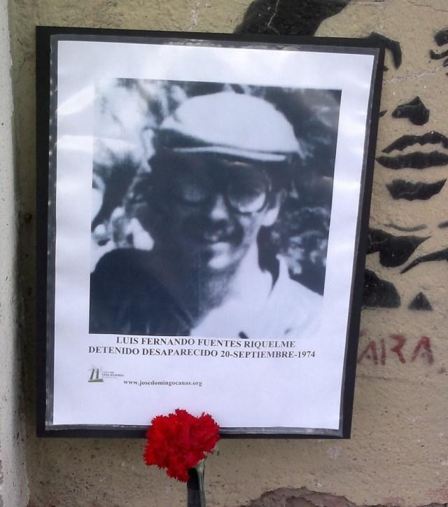 Luis Fernando Fuentes Riquelme. Detenido Desaparecido el 20 de septiembre de 1974.