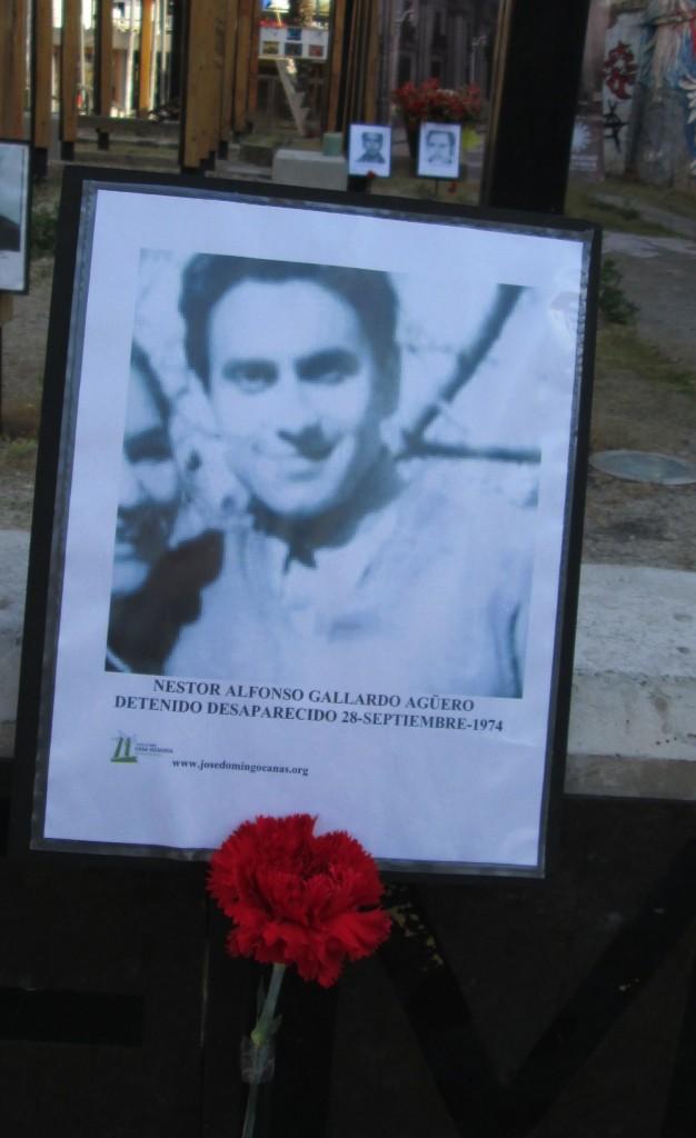 Nestor Alfonso Gallardo Agüero. Detenido Desaparecido el 28 de septiembre de 1974.