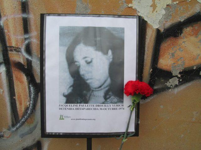 Jacqueline Paulette Drouilly Yurich Detenida Desaparecida el 30 de octubre de 1974.