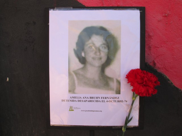 Amelia Ana Bruhn Frenández. Detenida Desaparecida el 4 de octubre de 1974.