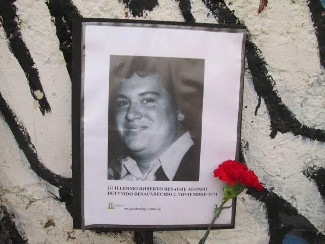 Guillermo Roberto Beausire Alonso. Detenido Desaparecido el 2 de noviembre de 1974.