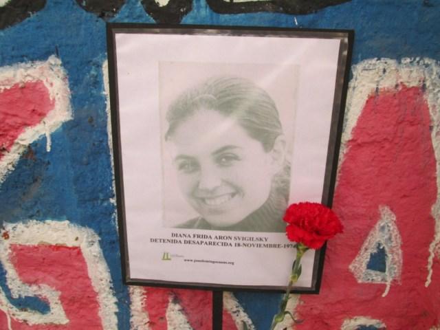 Diana Frida Aron Svigilsky. Detenida Desaparecida el 18 de noviembre de 1974.
