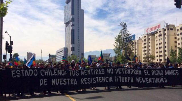 Marcha por la resistencia mapuche (12-09-14)