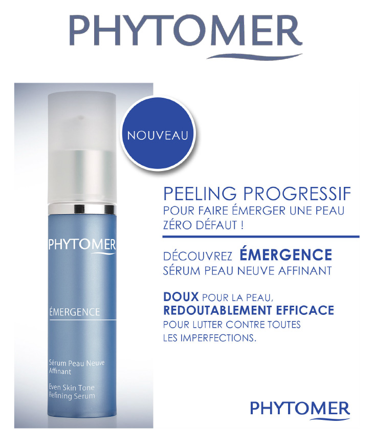 PHYTOMER - nouveaute - serum emergence - Josée Dubé Spa Urbain