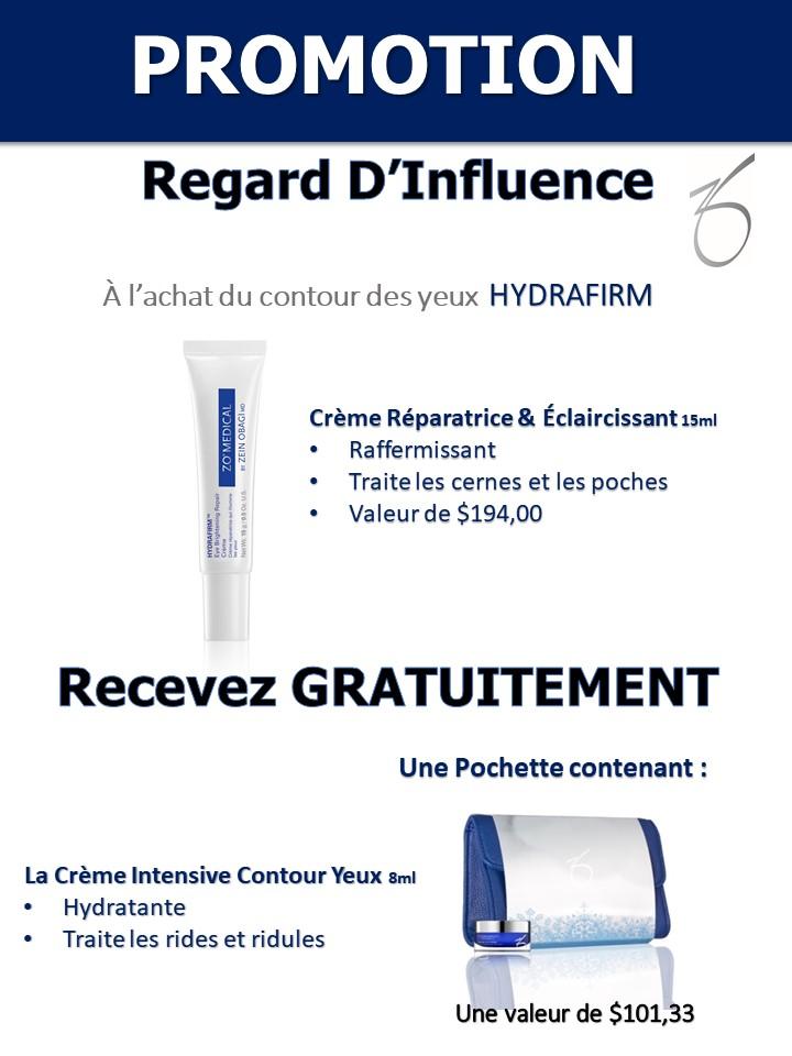 ZO SKIN HEALTH - promotion Hydrafirm - Josée Dubé Spa Urbain - Rosemont - Montréal