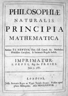 Publication de la loi sur l'attraction universelle (Isaac Newton, 1687)