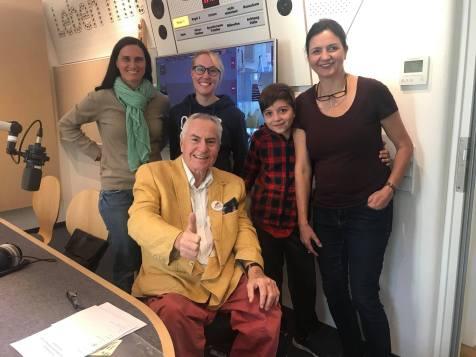Im Studio Radio Horeb München angekommen