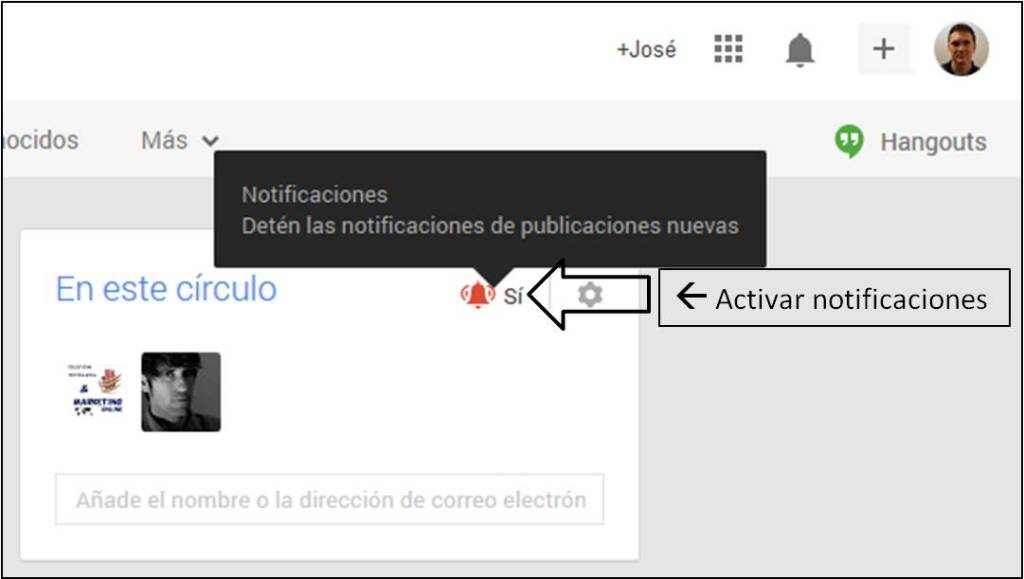 Activar notificaciones