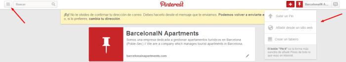 Guía para crear una página de empresa en Pinterest