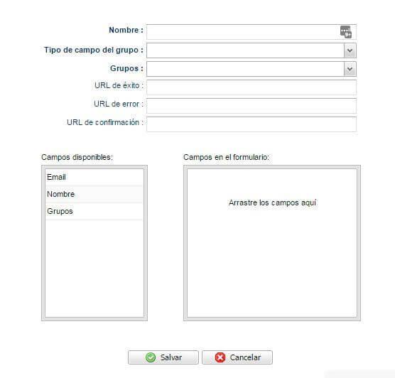 Formulario personalizado de suscripción