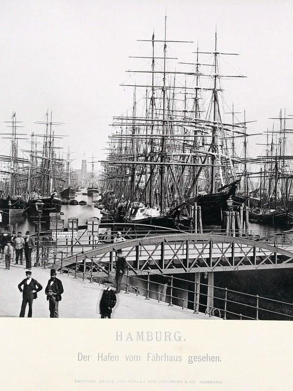 Hamburg 1875, Hafen-Panorama