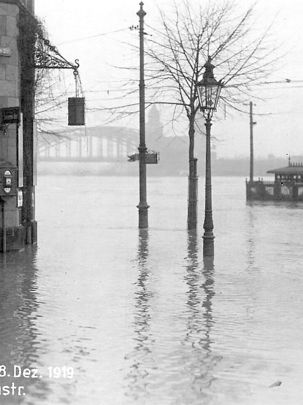 Köln 1919, Hochwasser