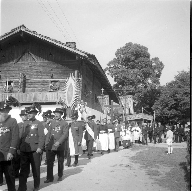 Tristach 1930, Prozession