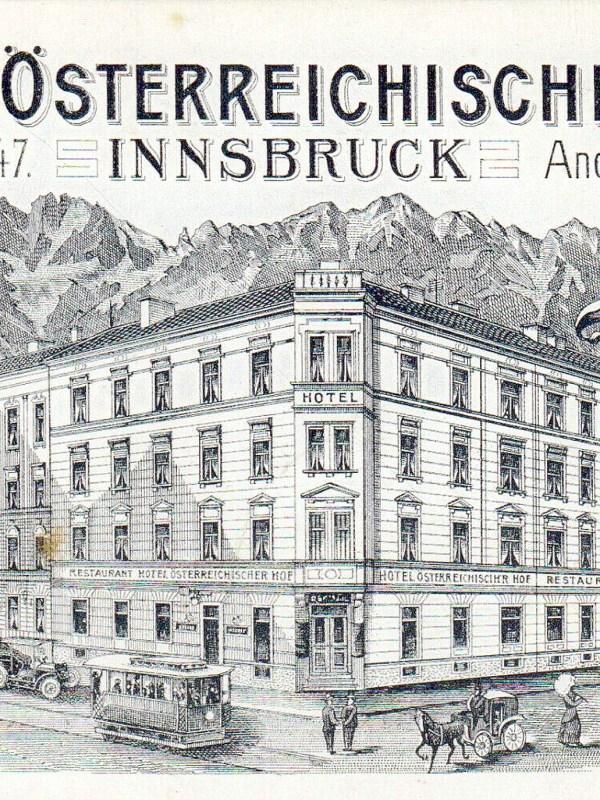 Innsbruck 1895, Visitenkarte Österreichischer Hof