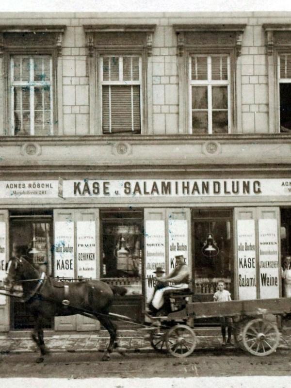 Wien 1901, Käse- und Salamihandlung