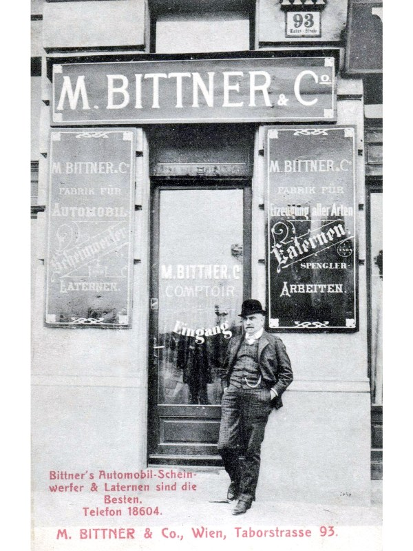 Wien 1910, Autoscheinwerfer-Geschäft