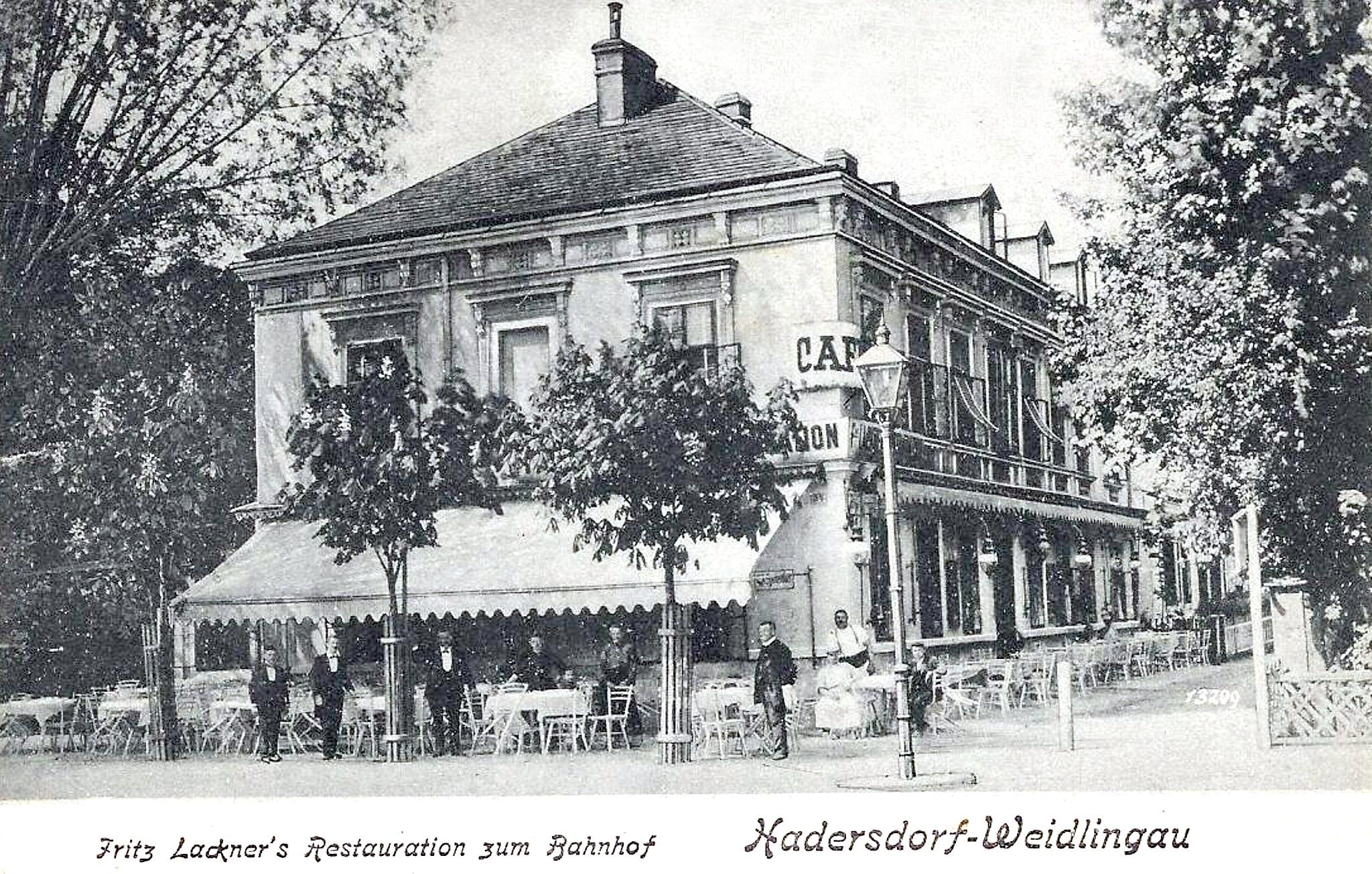 Wien 1910, Restauration zum Bahnhof