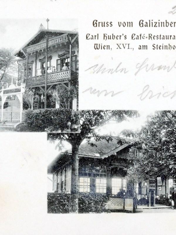 Wien 1904, Café Huber