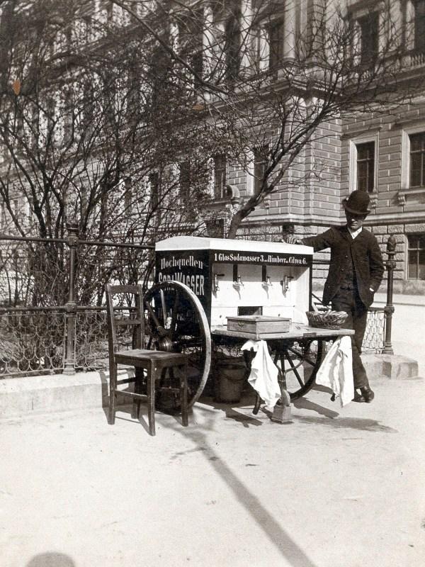 Wien 1881, Sodawasser-Verkäufer