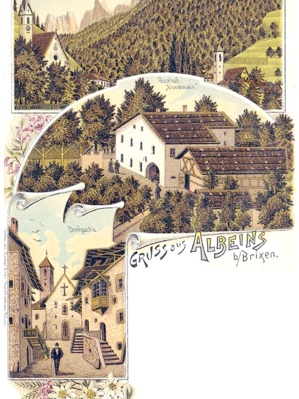 Albeins bei Brixen 1898, Gasthaus Untermair