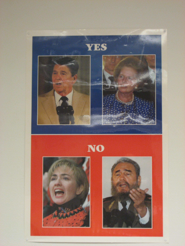 Reagan, Thatcher, Clinton,Castro