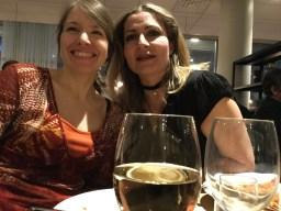 Jag och Katerina Janouch på stämmobanketten.
