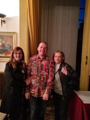 Con Sonia Sevilla y la Sra. Arqué