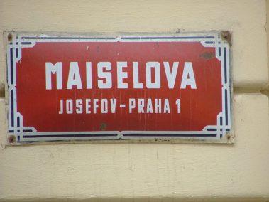 Praga, Maiselova ulice, placa