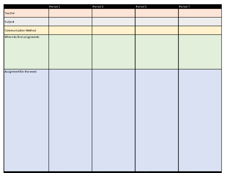 Visual Schedule 1