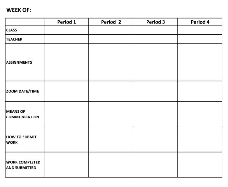 Organizational Schedule 3