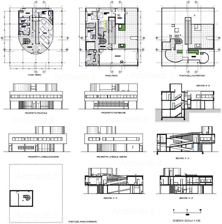 Planos Ville Saboye, Le Corbusier.