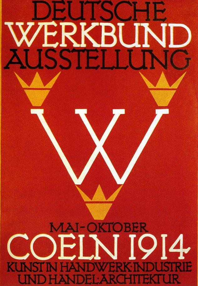 Cartel para la Exposición de Colonia, diseñado por Fritz Hellmund Ehmcke en 1914