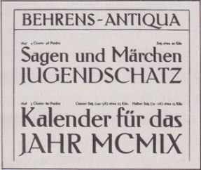 Peter Behrens – Tipografía Behrens antiqua (1907)