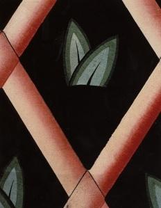 Diseño textil por Dagobert Peche.
