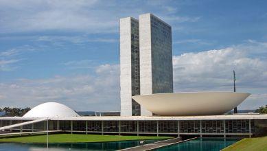Congreso Nacional de Brasil hecho por Oscar Niemeyer