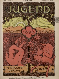 Portada Revista Jugend creada en 1896.