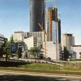 Torre Espacio, Torre Cristal y Torre Sacyr Vallehermoso en construcción desde Barrio de Begoña