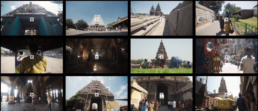 India temple 4K stock footage free royalty clip