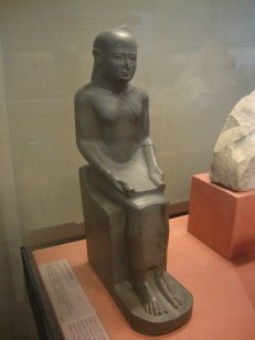 One of three statues of Imhotep in the Louvre