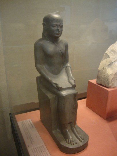 A statue of Imhotep in the Louvre. It is likely that he is the Joseph of the Bible who saved Egypt from a 7yr famine.