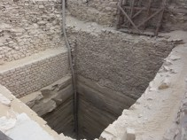 A ventilation shaft connected to the grain silo tunnels. Grain could also have been pulled up in baskets.