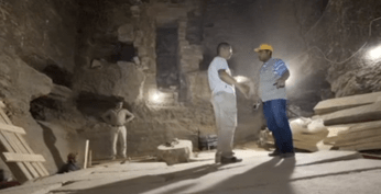 In Djoser's tomb under the Step Pyramid