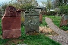 Joseph Bell's Memorial Headstone (left) and his Grandparents Headstone (right)