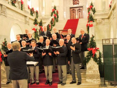Men's Chorus at the Alberta Legislature